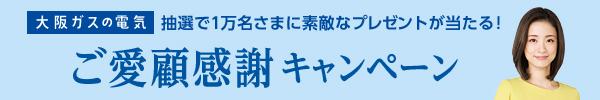 大阪ガスの電気 抽選で1万名さまに素敵なプレゼントが当たる! ご愛顧感謝キャンペーン